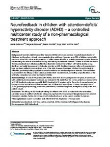 Neurofeedback in children with attention-deficit ... - BioMed Central