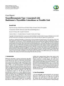 Neurofibromatosis Type 1 Associated with Hashimoto's Thyroiditis ...