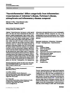 'Neuroinflammation' differs categorically from
