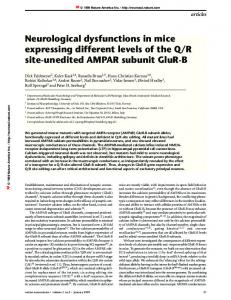 Neurological dysfunctions in mice expressing different ...