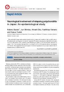 Neurological involvement of relapsing polychondritis in Japan