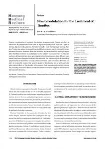 Neuromodulation for the Treatment of Tinnitus