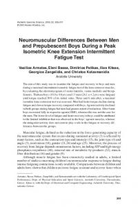 Neuromuscular Differences Between Men and Prepubescent Boys