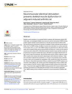 Neuromuscular electrical stimulation prevents skeletal muscle ... - PLOS