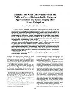 Neuronal and Glial Cell Populations in the Piriform ... - Semantic Scholar