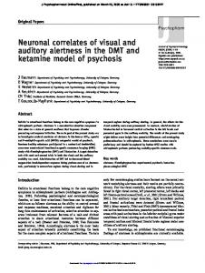 Neuronal correlates of visual and auditory alertness in the ... - CiteSeerX