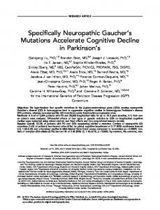 Neuropathic Gaucher's mutations accelerate ... - Wiley Online Library