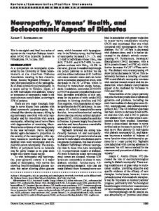 Neuropathy, Womens' Health, and Socioeconomic ... - Diabetes Care