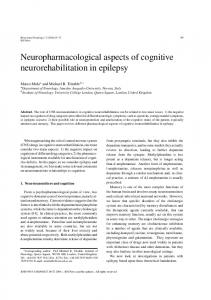 Neuropharmacological aspects of cognitive ... - Hindawi