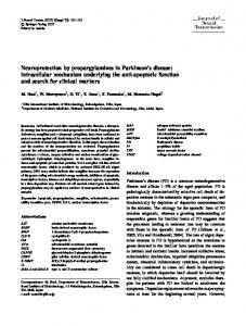 Neuroprotection by propargylamines in Parkinson's ... - Springer Link