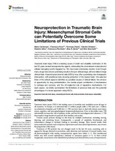 Neuroprotection in Traumatic Brain Injury
