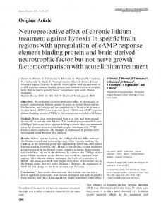 Neuroprotective effect of chronic lithium ... - Wiley Online Library