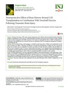 Neuroprotective Effects of Bone Marrow Stromal