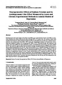 Neuroprotective Effects of Sodium Ferulate and Its ... - Semantic Scholar