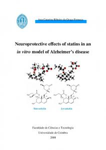 Neuroprotective effects of statins in an in vitro model