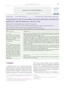 Neuroprotective role of antioxidant and ... - Semantic Scholar