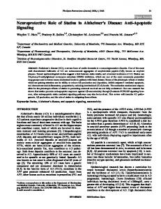 Neuroprotective Role of Statins in Alzheimer's