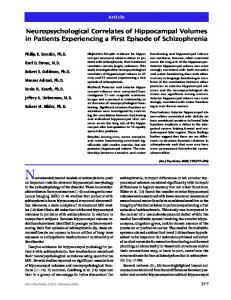 Neuropsychological Correlates of Hippocampal Volumes in Patients ...