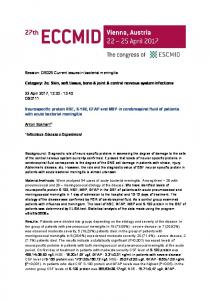 Neurospecific protein NSE, S-100, GFAP and MBP in ... - ESCMID