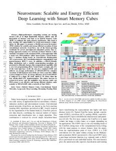 Neurostream: Scalable and Energy Efficient Deep Learning - arXiv