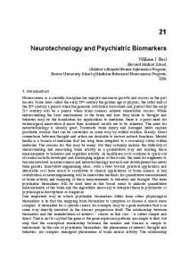 Neurotechnology and Psychiatric Biomarkers