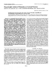 Neurotrophic Action of Gliostatin on Cortical Neurons - The Journal of ...