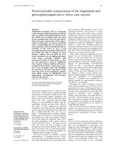 Neurovascular compression of the trigeminal and ... - Europe PMC