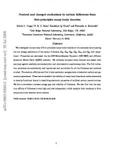 Neutral and charged excitations in carbon fullerenes from first ...