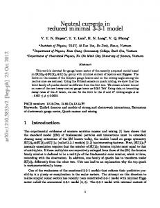 Neutral currents in reduced minimal 3-3-1 model - arXiv