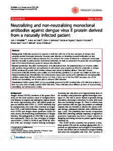 Neutralizing and non-neutralizing monoclonal ... - BioMedSearch