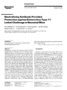 Neutralizing antibody provided protection against ... - Springer Link