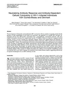 Neutralizing Antibody Response and Antibody-Dependent Cellular ...