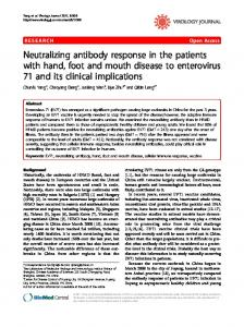 Neutralizing antibody response in the patients with ... - BioMedSearch