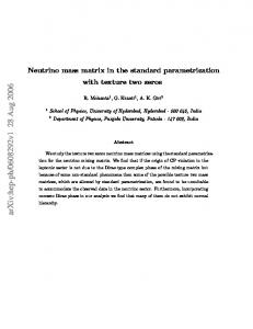 Neutrino mass matrix in the standard parametrization with texture two ...