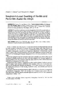 Neutron-Induced Swelling of Fe-Mn and Fe-Cr-Mn