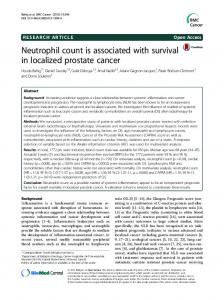 Neutrophil count is associated with survival in ... - Semantic Scholar