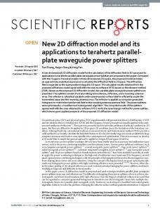 New 2D diffraction model and its applications to terahertz parallel