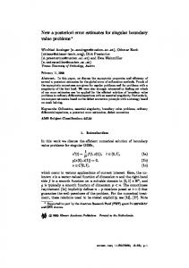 New a posteriori error estimates for singular boundary value ... - ASC