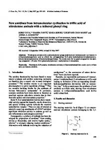 New amidines from intramolecular cyclization in triflic ... - Springer Link