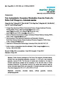 New Antioxidative Secondary Metabolites from the ... - BioMedSearch