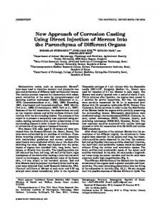New Approach of Corrosion Casting Using ... - Wiley Online Library