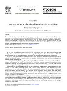 New approaches to educating children in modern ... - Science Direct