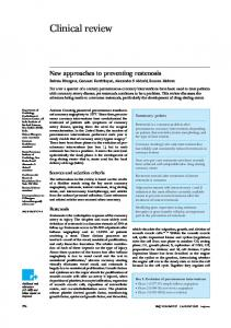 New approaches to preventing restenosis