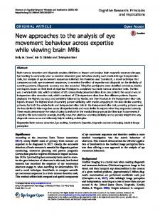 New approaches to the analysis of eye movement ... - Springer Link