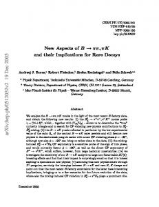 New Aspects of B-> pi pi, pi K and their Implications for Rare Decays