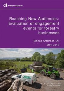 New Audiences Forestry Business Project ... - Forestry Commission