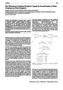 New Bifunctional Chelating Phosphine Ligands for Immobilization of ...