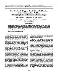 New Biochemical Approaches to Fiber Modification in ... - Springer Link