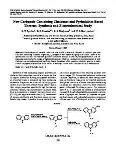 New Carbazole-Containing Chalcones and ... - Springer Link