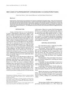 new cases of supernumerary chromosomes in characiform ... - SciELO